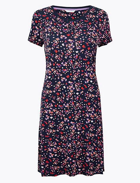 Floral Short Sleeve Nightdress