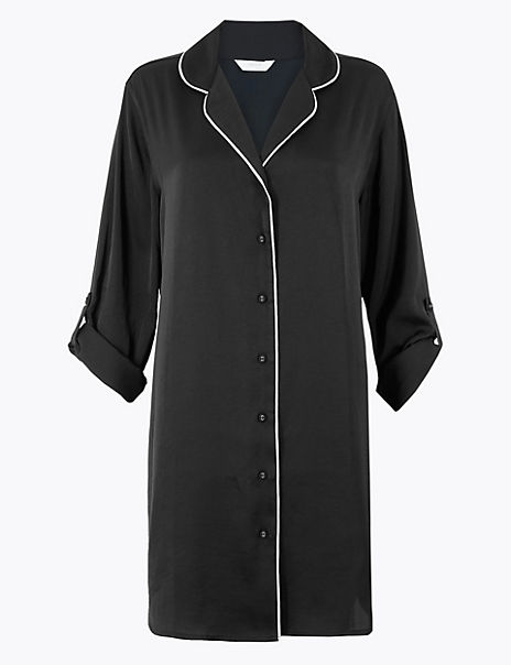Satin Shirt Nightshirt