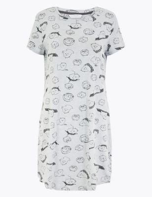 Cotton Dog Print Nightdress