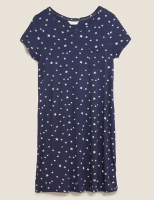 Star Print Short Nightdress