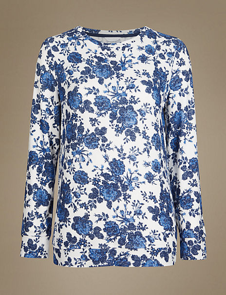Floral Print Long Sleeve Pyjama Top