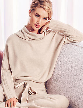 Pure Cashmere Long Sleeve Pyjama Top