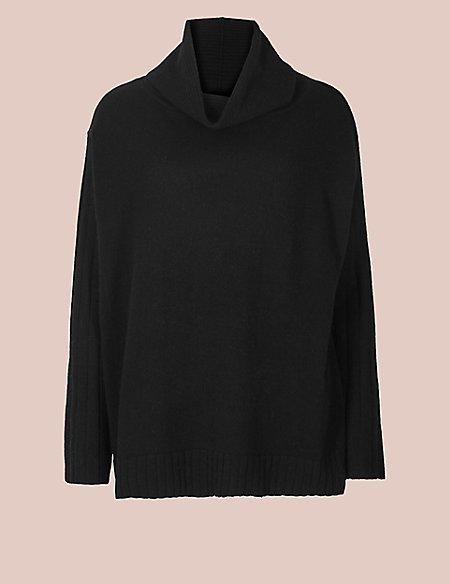 Pure Cashmere Long Sleeve Pyjama Top