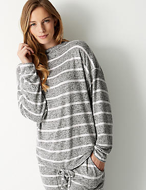 Striped Long Sleeve Pyjama Top
