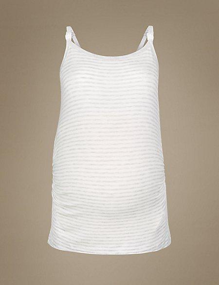 Maternity Striped Camisole Pyjama Top