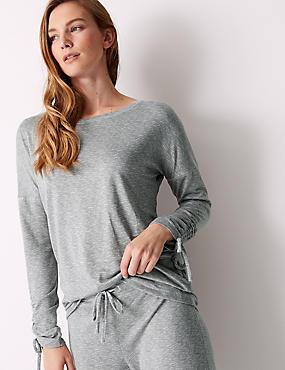 Textured Long Sleeve Pyjama Top