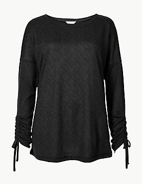 Textured Long Sleeve Pyjama Top