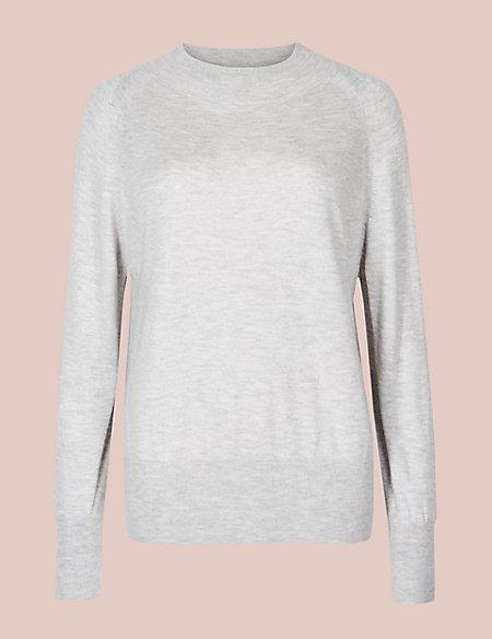 Long Sleeve Pyjama Top with Cashmere
