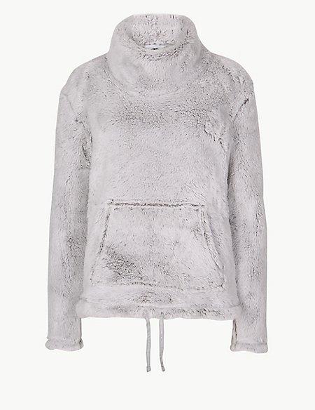 Fleece Textured Long Sleeve Pyjama Top