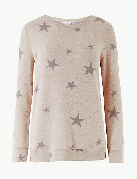 Star Print Cosy Lounge Top