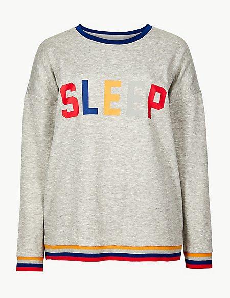 Sleep Slogan Lounge Top