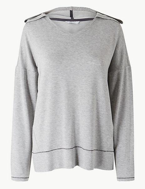 Loungewear Hooded Pyjama Top