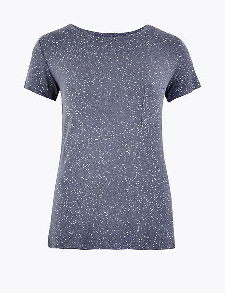 Foil Print Pyjama Top