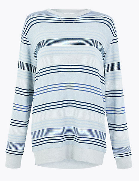 Cosy Knit Striped Lounge Top
