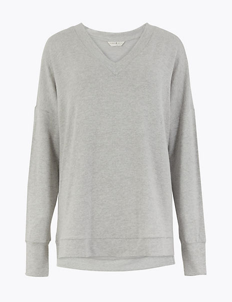 Cosy Knit V-Neck Lounge Top