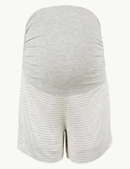 Striped Maternity Pyjama Shorts
