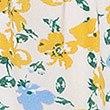 Korte pyjamabroek met striksluiting aan de voorkant en speels bloemmotief, GEEL MIX, swatch