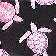 Korte pyjamabroek van zuiver katoen met schildpadmotief, ZWART MIX, swatch