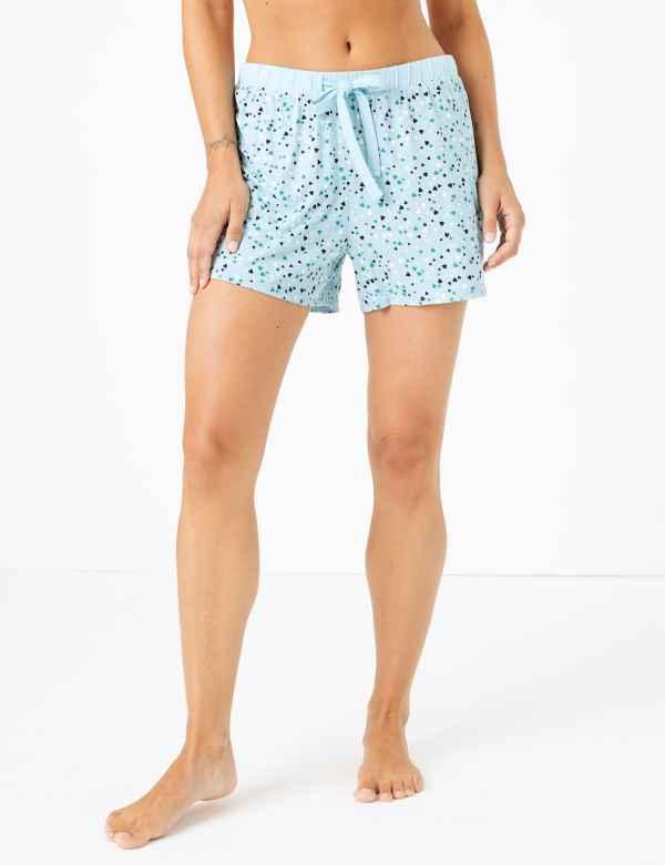 p60291155: Heart Pyjama Shorts