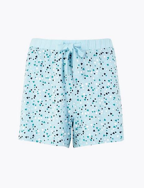 Heart Pyjama Shorts