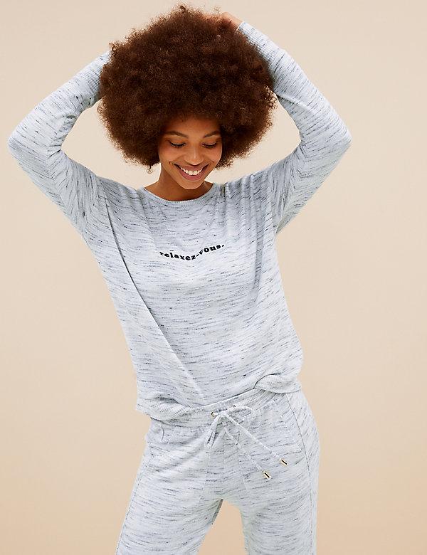 Cosy Knit Lounge Relaxez-vous Sweatshirt