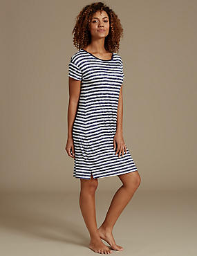 Striped Short Nightdress