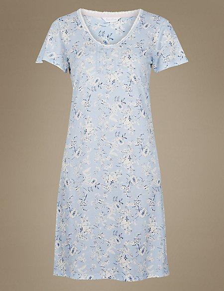 Modal Blend Floral Print Nightdress