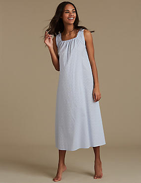 Pure Cotton Textured Nightdress