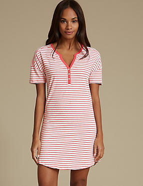 Striped Placket Nightdress
