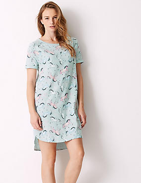 Cotton Rich Novelty Short Nightdress