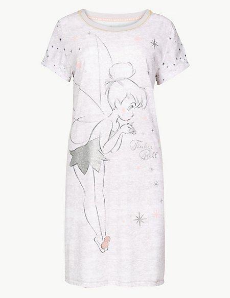 Pure Cotton Tinkerbell Short Nightdress