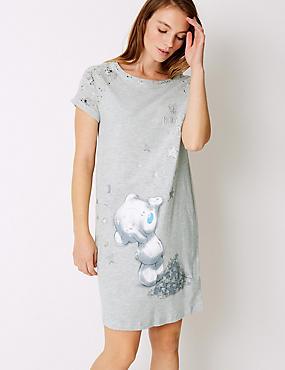 Cotton Rich Printed Nightdress