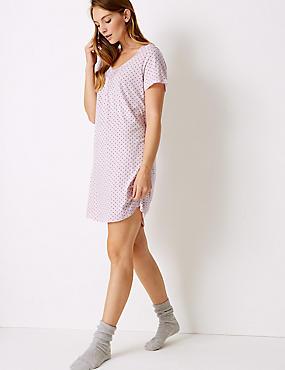 Modal Blend Star Print Nightdress