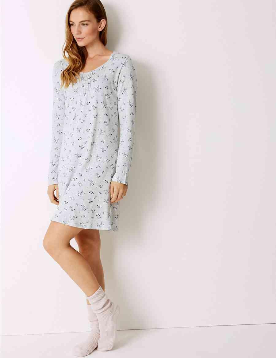 Modal Blend Nightdress with Cool Comfort trade  Technology 8775e5ba2