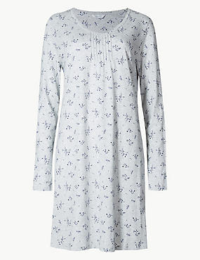 Modal Blend Ditsy Floral Print Nightdress