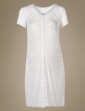 Maternity Striped Nightdress