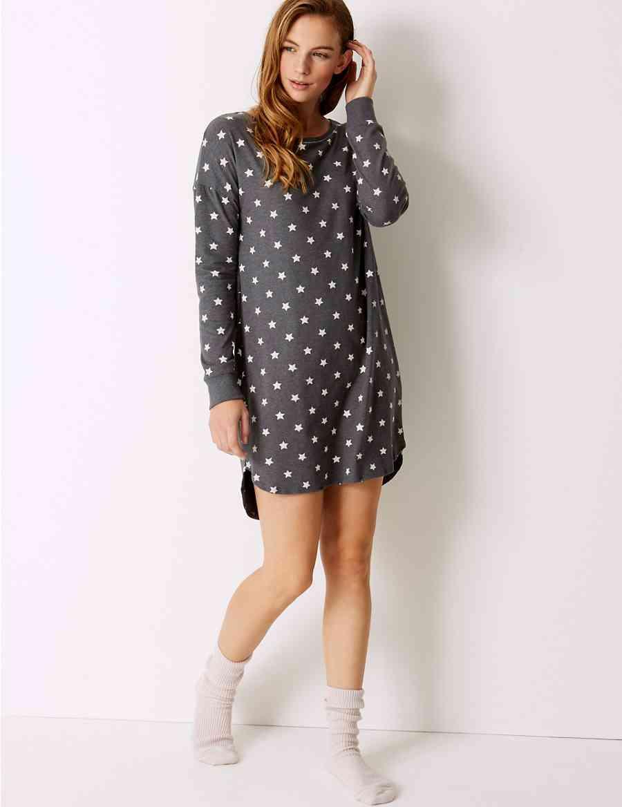 4eef7bf49b Cotton Rich Star Print Nightdress