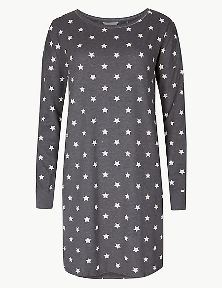 Cotton Rich Star Print Nightdress