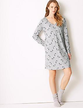Pure Cotton Printed Short Nightdress