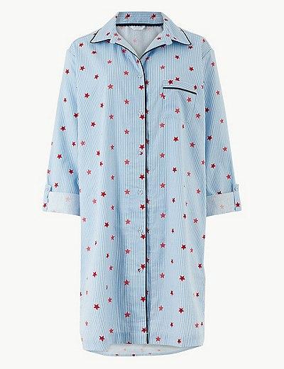 f309b6e4ef Pure Cotton Star and Stripe Print Nightshirt
