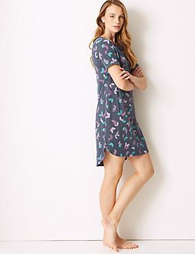Cotton Rich Butterfly Print Nightdress