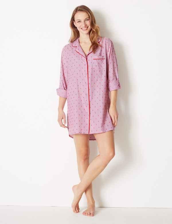 c44cbc36247 Pure Cotton Dobby Nightshirt