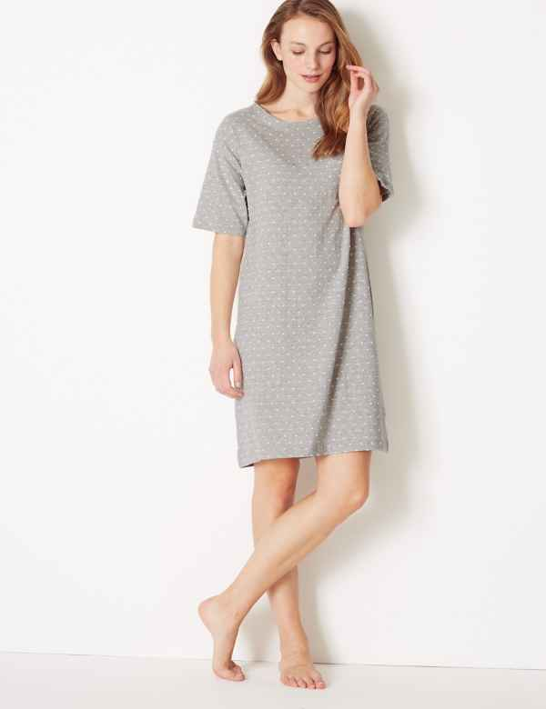Polka Dot Short Nightdress. New. M S Collection ea0edf317