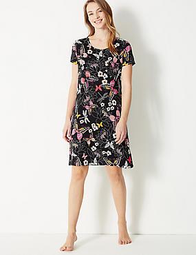 Butterfly Short Sleeve Nightdress ... bd9078fc9