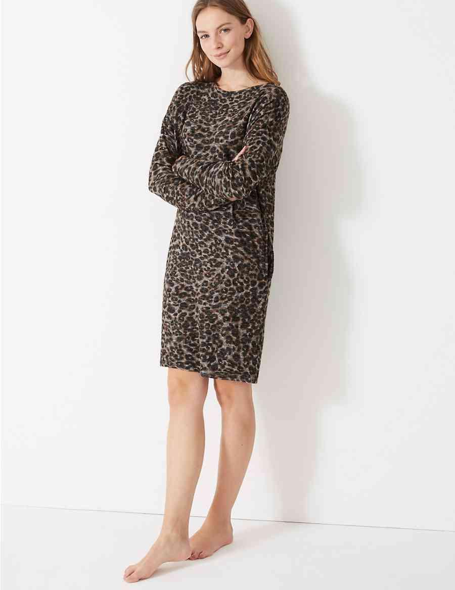 4180b98df5 Animal Print Lounge Dress