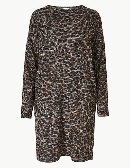 Animal Cosy Knit Lounge Dress