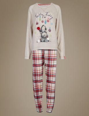Tatty Teddy Checked Pyjamas M Amp S Collection M Amp S