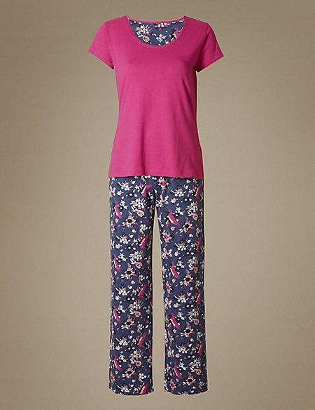 Pure Cotton Printed Short Sleeve Pyjamas