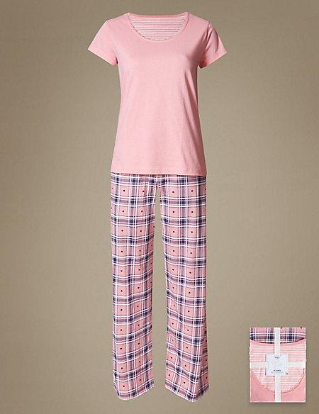 Pure Cotton Short Sleeve Pyjamas