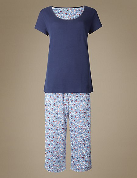 Pure Cotton Ditsy Print Pyjamas